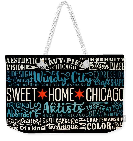 Wall Art Chicago Weekender Tote Bag