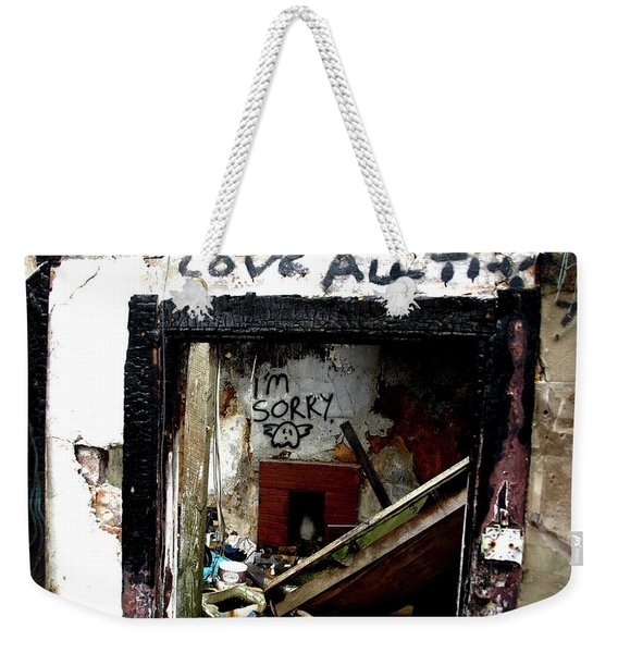 Wall, Sorry Weekender Tote Bag