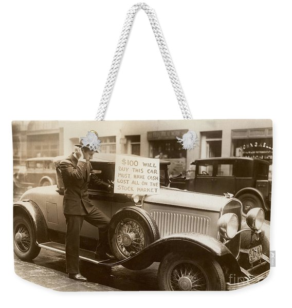 Wall Street Crash, 1929 Weekender Tote Bag