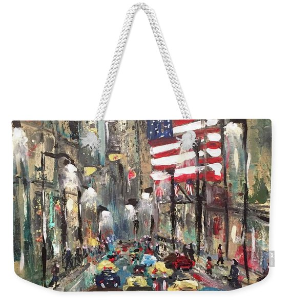 wall street NY Weekender Tote Bag