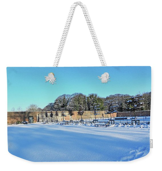 Walled Garden In The Snow Weekender Tote Bag
