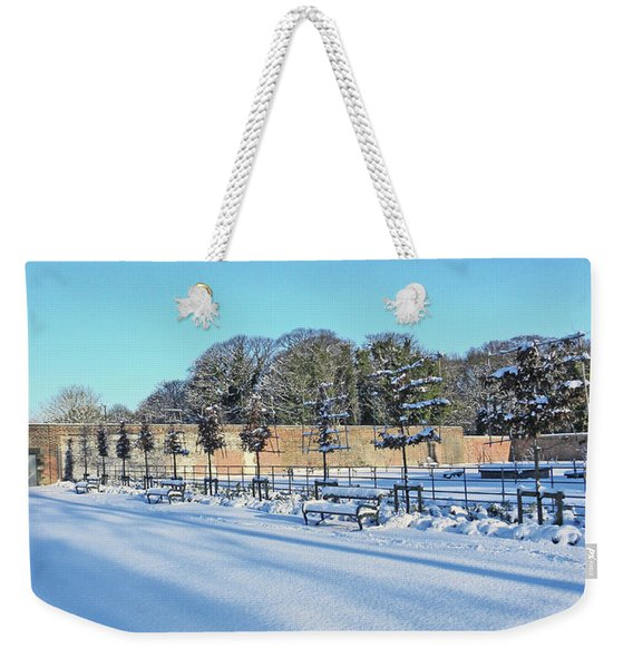Walled Garden Winter Landscape Weekender Tote Bag