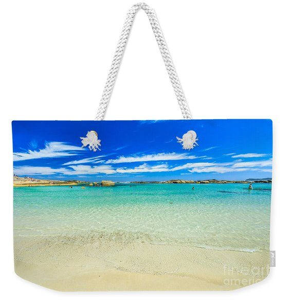 Weekender Tote Bag featuring the photograph Wallpaper Sea Background by Benny Marty