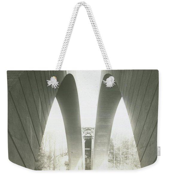 Walnut Lane Bridge Under Construction Weekender Tote Bag