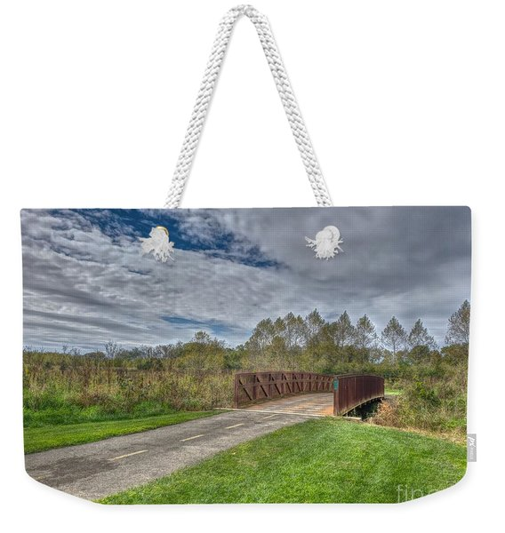 Walnut Woods Bridge - 1 Weekender Tote Bag