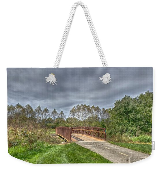 Walnut Woods Bridge - 2 Weekender Tote Bag