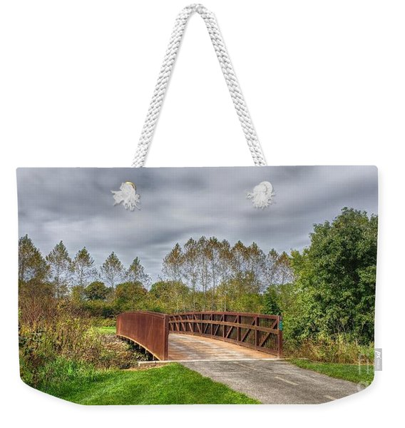 Walnut Woods Bridge - 3 Weekender Tote Bag