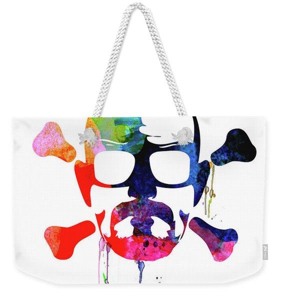 Walter Skull Watercolor Weekender Tote Bag