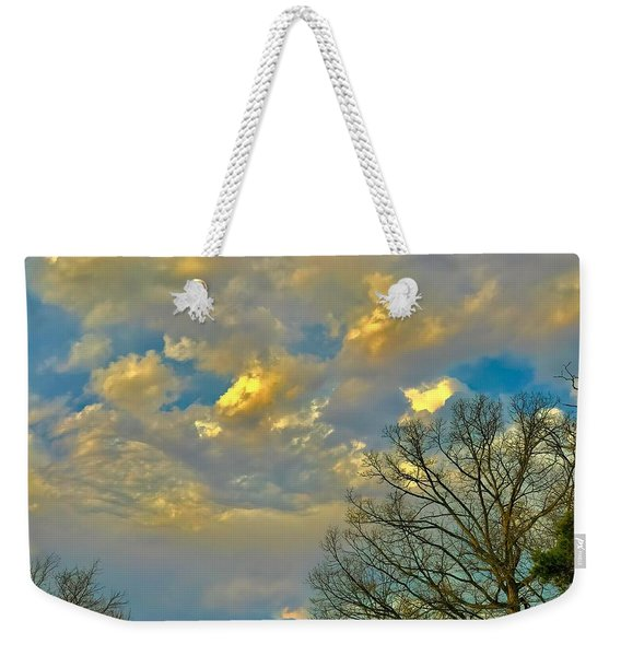 Warm And Cool Sky Weekender Tote Bag