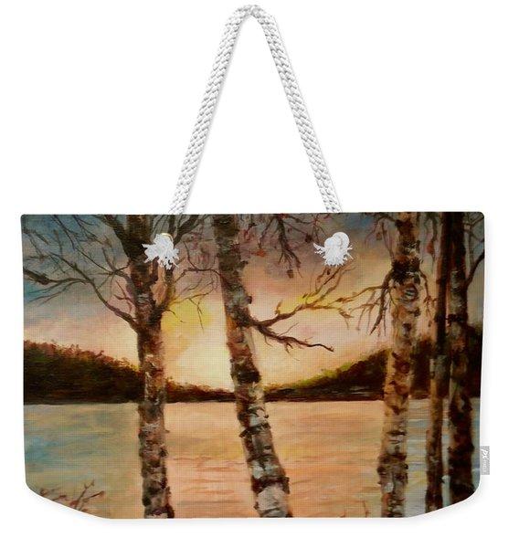 Warm Fall Day Weekender Tote Bag
