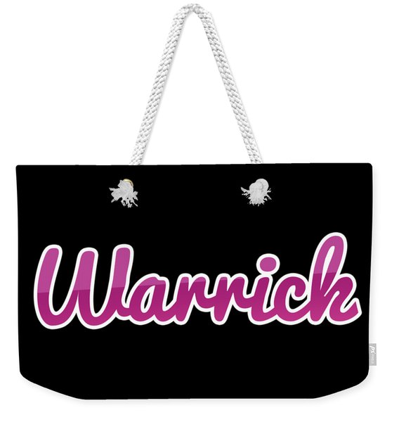 Warrick #warrick Weekender Tote Bag