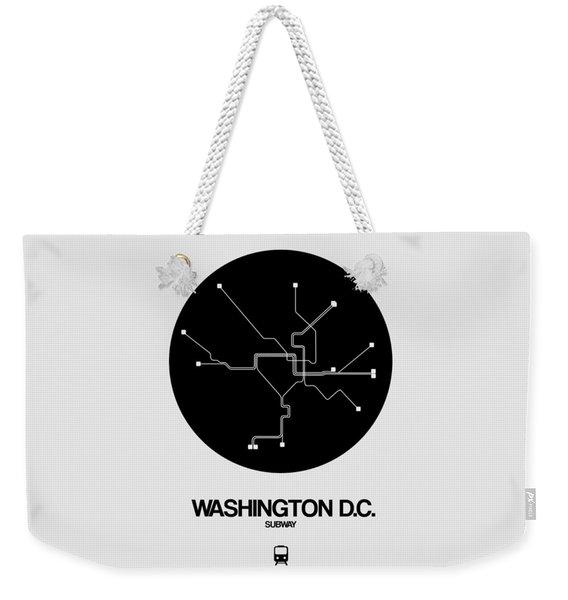 Washington D.c. Black Subway Map Weekender Tote Bag