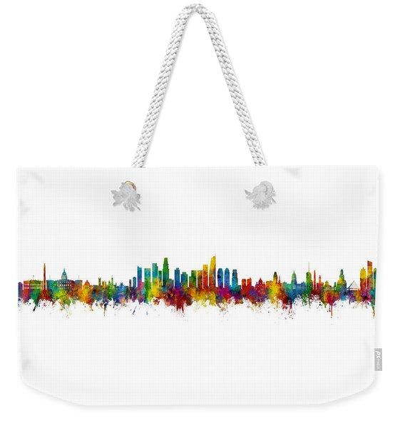 Washington Dc, Los Angeles And Buenos Aires Skyline Mashup Weekender Tote Bag