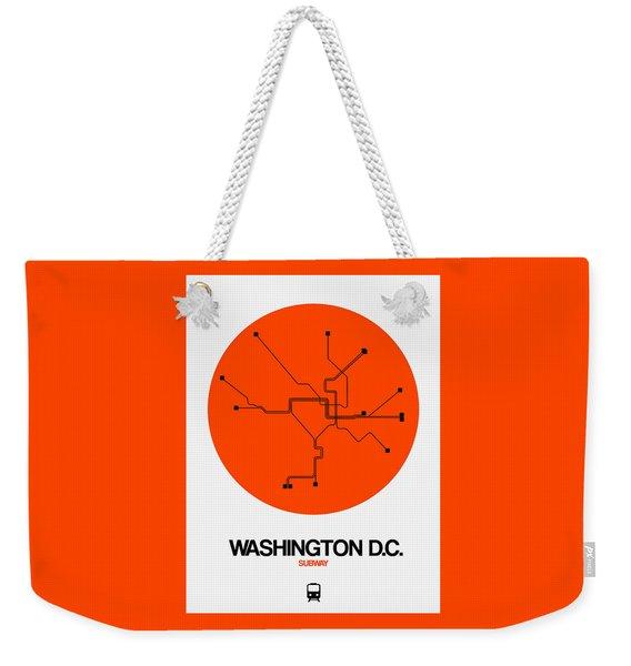 Washington D.c. Orange Subway Map Weekender Tote Bag
