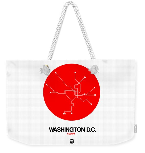 Washington D.c. Red Subway Map Weekender Tote Bag