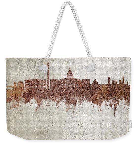 Washington Dc Rust Skyline Weekender Tote Bag