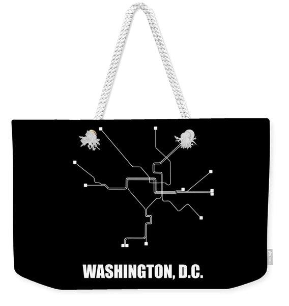 Washington, D.c. Square Subway Map Weekender Tote Bag