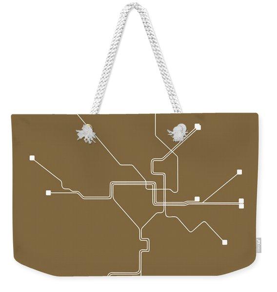 Washington, D.c. Subway Map 2 Weekender Tote Bag