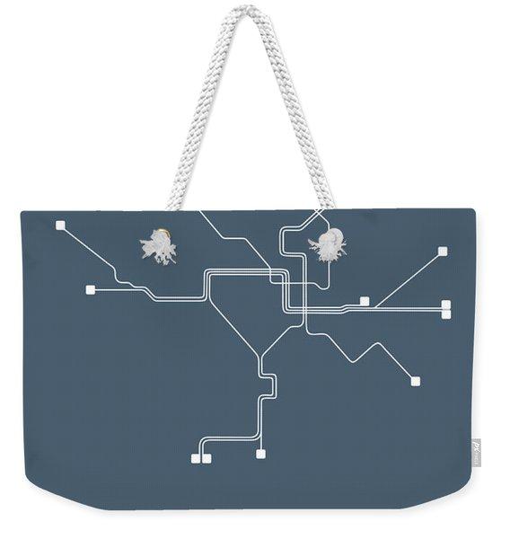 Washington, D.c Subway Map Weekender Tote Bag