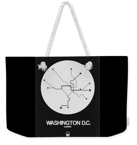Washington D.c. White Subway Map Weekender Tote Bag