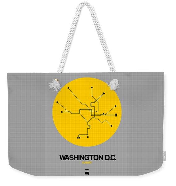 Washington D.c. Yellow Subway Map Weekender Tote Bag