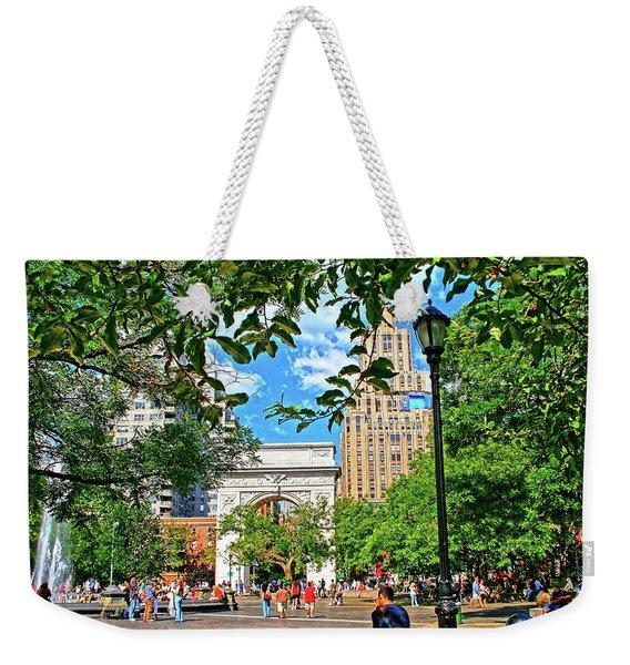Washington Square, Manhattan, New York Weekender Tote Bag