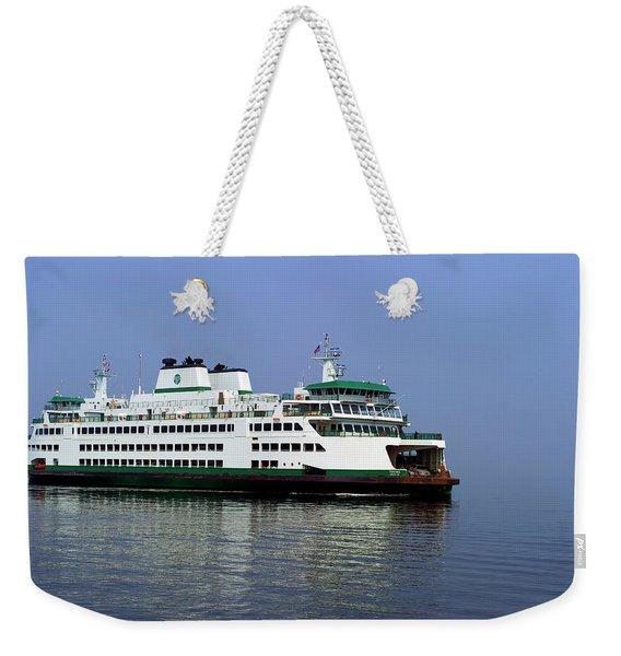 Washington State Ferry At Mukilteo  Weekender Tote Bag