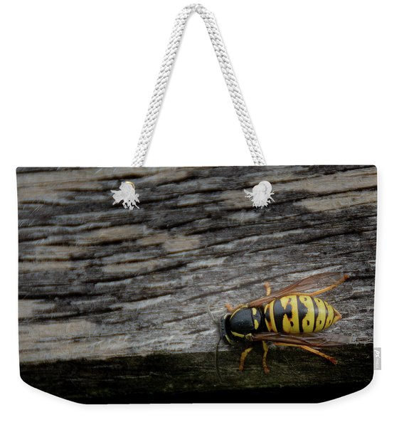 Wasp On Wood Weekender Tote Bag