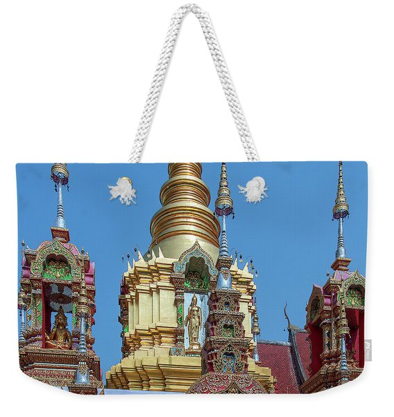 Wat Ban Kong Phra That Chedi Brahma And Buddha Images Dthlu0501 Weekender Tote Bag