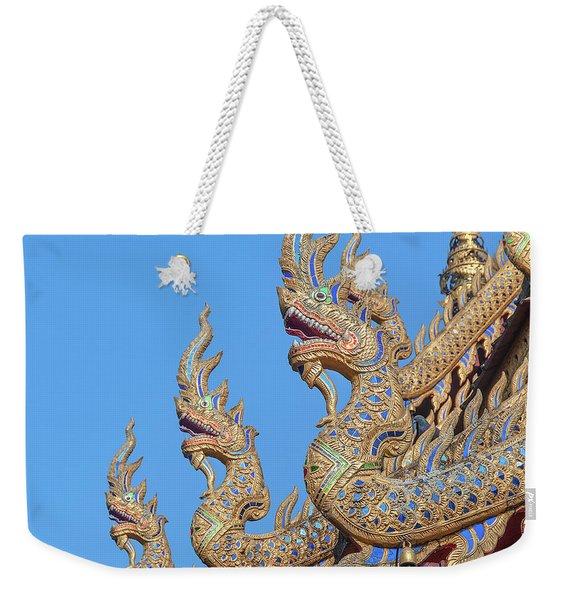 Wat Nong Tong Phra Wihan Naga Roof Finials Dthcm2648 Weekender Tote Bag