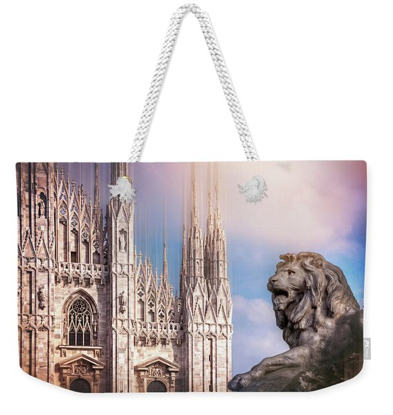 Watching Over The Duomo Milan Italy  Weekender Tote Bag