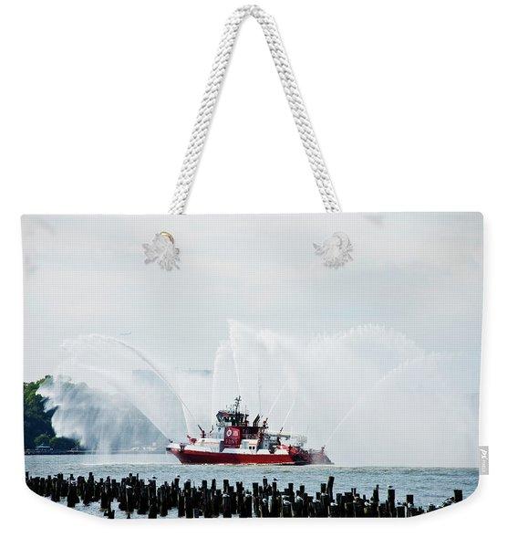 Water Boat Weekender Tote Bag