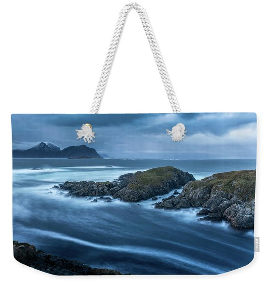 Water Flow At Stormy Sea Weekender Tote Bag