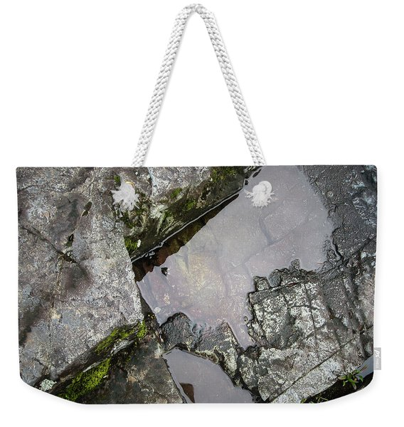 Weekender Tote Bag featuring the photograph Water On The Rocks 2 by Juan Contreras