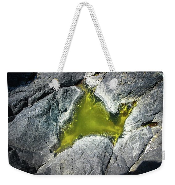 Weekender Tote Bag featuring the photograph Water On The Rocks 5 by Juan Contreras