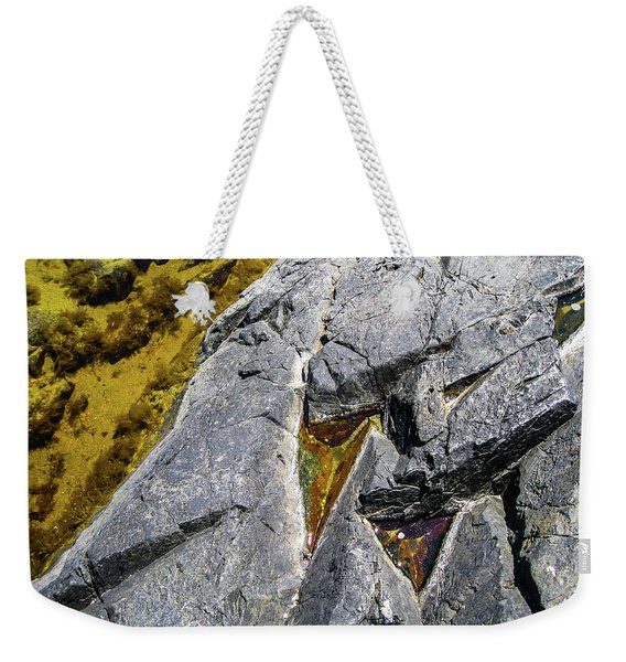 Weekender Tote Bag featuring the photograph Water On The Rocks 8 by Juan Contreras