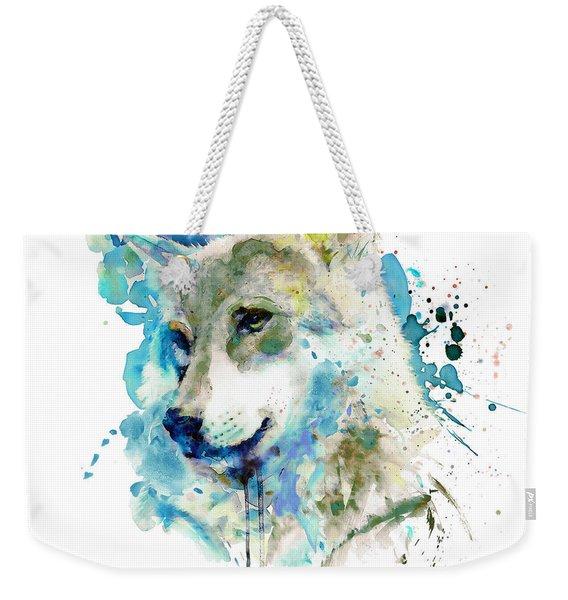 Watercolor Wolf Portrait Weekender Tote Bag