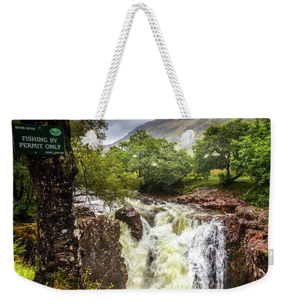 Waterfall At The Ben Nevis Mountain Weekender Tote Bag