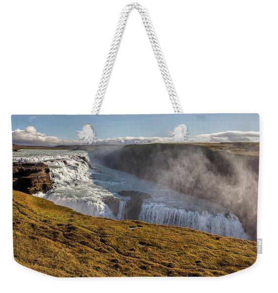 Waterfall Mist Of Iceland Weekender Tote Bag
