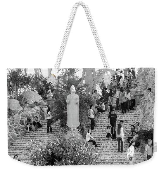 Waterfall Of People Weekender Tote Bag