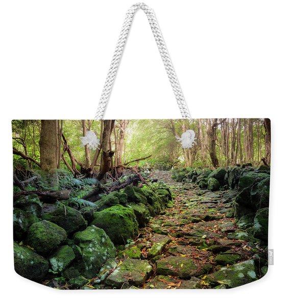 Waterfall Path Weekender Tote Bag