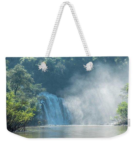 Waterfall, Sunlight And Mist Weekender Tote Bag