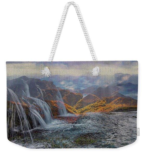 Waterfalls In The Mountains Weekender Tote Bag
