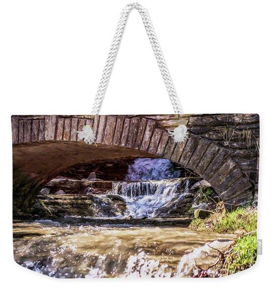 Waterfalls Through Stone Bridge Weekender Tote Bag