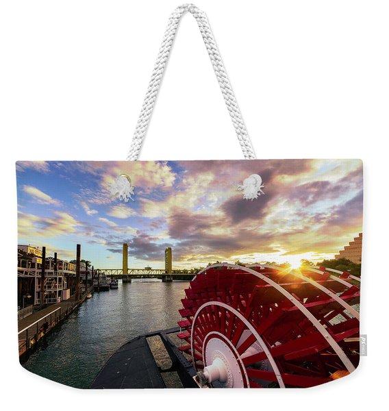 Waterfront Sunset Weekender Tote Bag