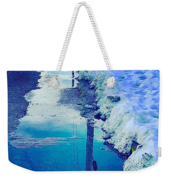 Waters In Snow Weekender Tote Bag