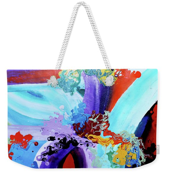 Watery Waves Weekender Tote Bag