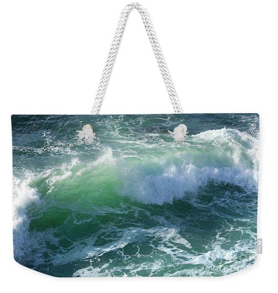Wave At Montana De Oro Weekender Tote Bag