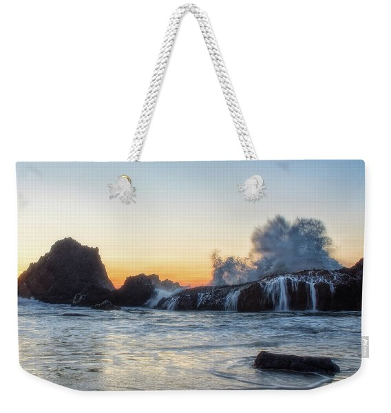 Wave Burst Weekender Tote Bag