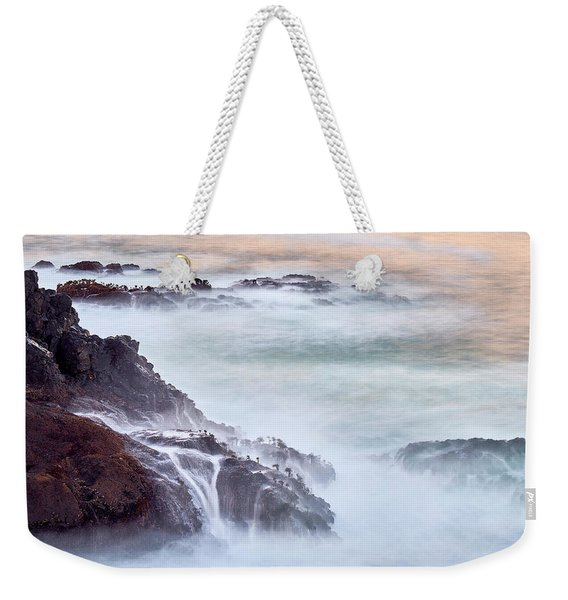 Weekender Tote Bag featuring the photograph Wave Falls by Whitney Goodey